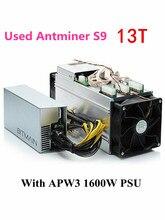 Utilisé BITMIAN S9 13TH/S avec APW3 1600 W Asic Bitcoin BTC mineur AntMiner S9 16nm Btc mineur économique que what sminer M3 M3X