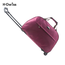 Large Wheeled Duffle Trolley Bag Women Soft Luggage Travel Bags on Wheels Fashion Designer Duffel Waterproof Bags Packing cubes