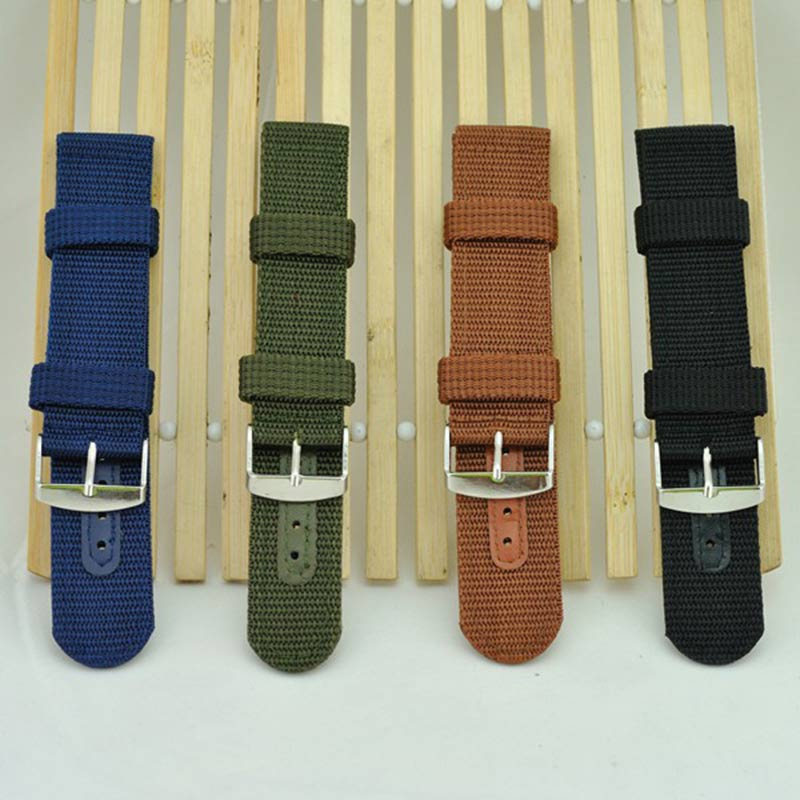 Simple Watch Band Solid Color Strap Nylon Mesh Watchbands 20mm 22mm 24mm Women Men Sport Watches Belt Accessories LXH