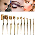 10PCS Tohbrush The New Mermaid Makeup Brush Foundation Oval Brushes One Set pincel maquiagem pinceaux de maquillage 28 Dropship
