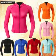 Neoprene Wetsuit Jacket Kayaking Women's Diving-Snorkeling Long-Sleeve Surfing for Cano
