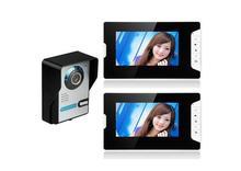 Yobang Security 7″ LCD Video Intercom Doorbell Video Door Phone Bell Kits support Monitoring,Unlock,Dual-way Intercom for villa