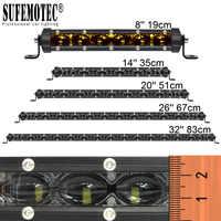 6D lentille Super mince barre de LED Offroad 30 W 60 W 90 W 120 W 150 W pour voiture Uaz 12 V 24 V tracteur Suv camion bateau 4WD 4x4 ATV lampes de travail LED