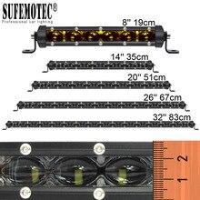 цены 6D Lens Super Slim Led Bar Offroad 30W 60W 90W 120W 150W For Car Uaz 12V 24V Tractor Suv Truck Boat 4WD 4x4 ATV Led Work Lights