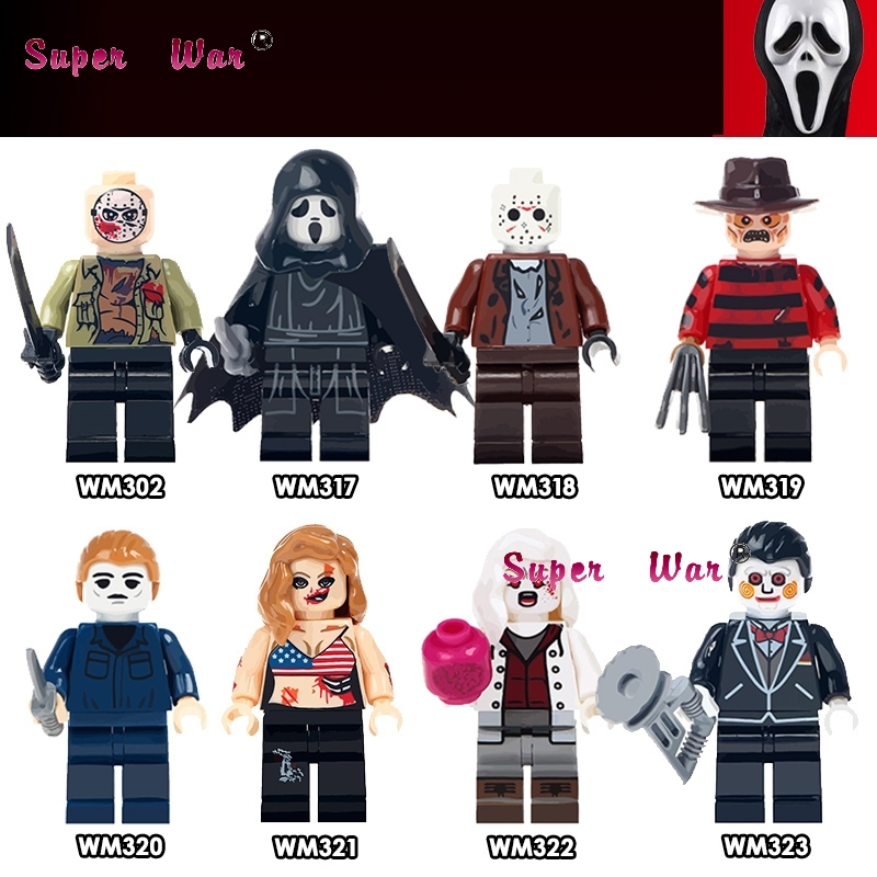 20pcs The Horror Theme Movie Hockey Guy Hockey Mask Hunter-Black Friday Jason Scream Killer building blocks bricks classic toys