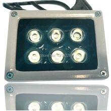 1pcs outdoor Array White-Light Lamp 6 High Power LED Array illuminator night vision for CCTV Camera
