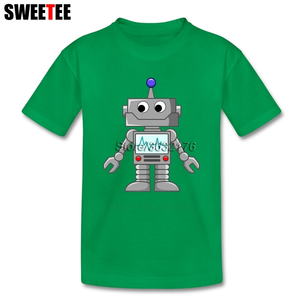 Children Toddler 100% Cotton Robot Tees Boy Girl 2018 T-shirt Crew Neck Kid Clothes T Shirt Infant Tshirt
