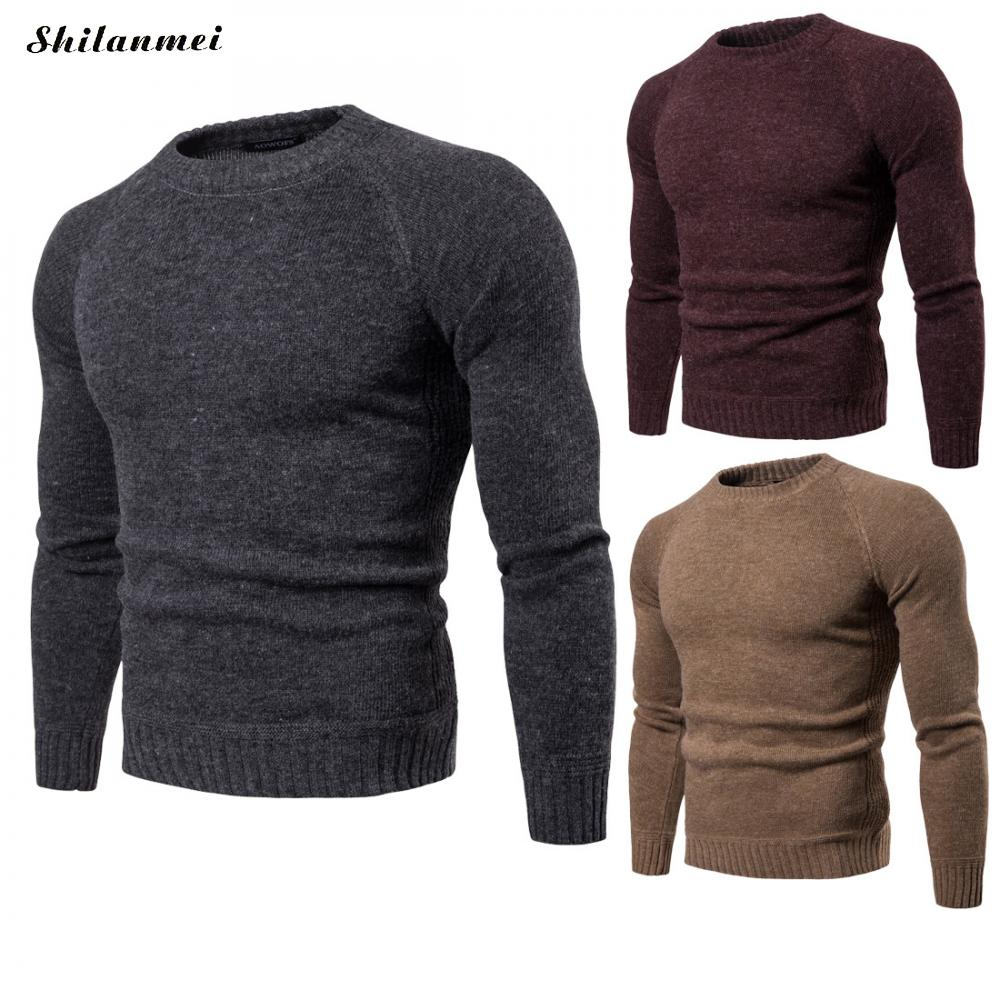 Khaki Sweater Men 2018 New Arrival Casual Pullover Men Autumn O Neck Solid High Quality Knitted Brand Male Sweaters Pull Homme
