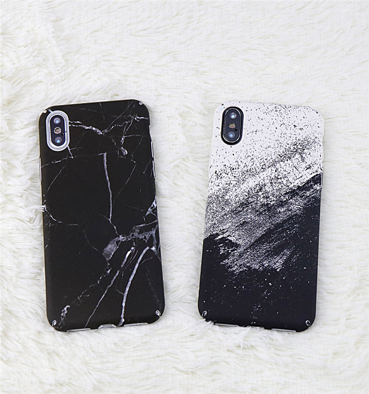 info for 9e71c 3fce2 US $2.54 19% OFF|Anti knock Black Marble Matte Phone Case For iphone X Case  Fashion White Sand Hard Plastic Back Cover Slim Protection Shell Case-in ...