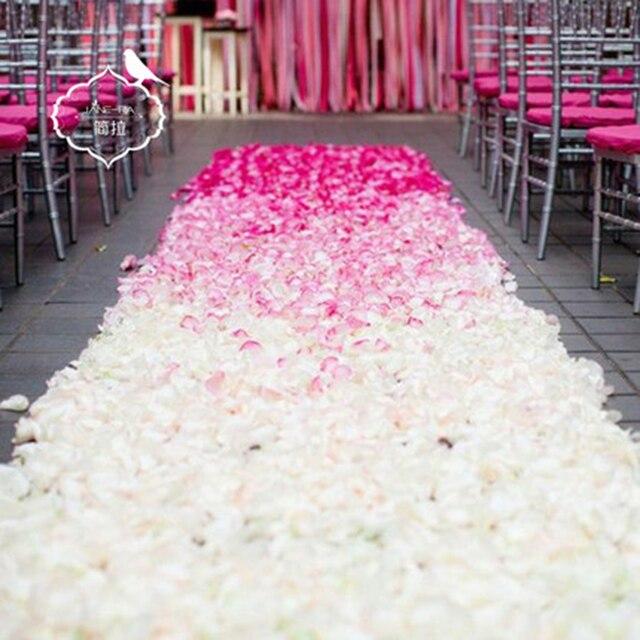 Romantic Decorations 100pcs various colors silk flower rose petals for a wedding party