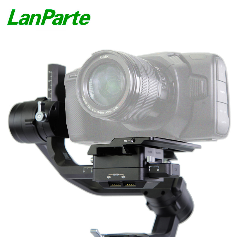 Lanparte Ronin S Offset Quick Release Plate Camera Bottom Base for BMPCC 4K Blackmagic Camera for