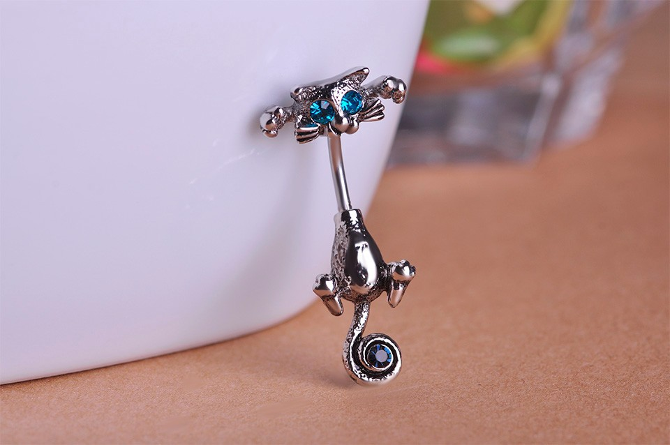 HTB1lryoIpXXXXafapXXq6xXFXXXD Bejeweled Cat Body Piercing Belly Button Ring Jewelry - 3 Colors