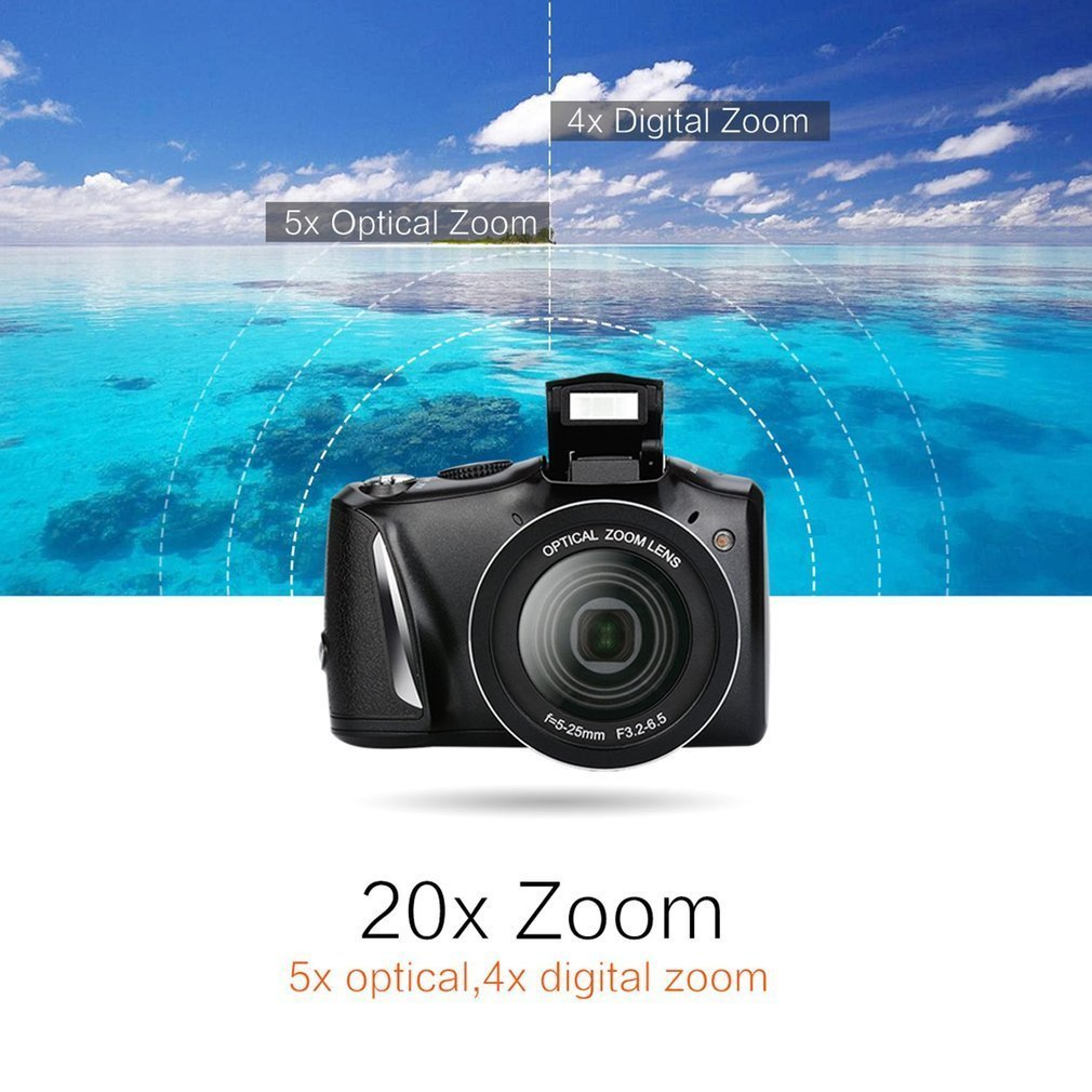 лучшая цена 3.5 Inch LCD Screen 24 MP Anti Shake Micro SLR Camera Indoor Outdoor Students Cameras 5x Optical Zoom 4x Digital Zoom