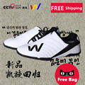 Sports high quality taekwondo shoes child adult soft outsole breathable shoes professional competition training shoes with bag