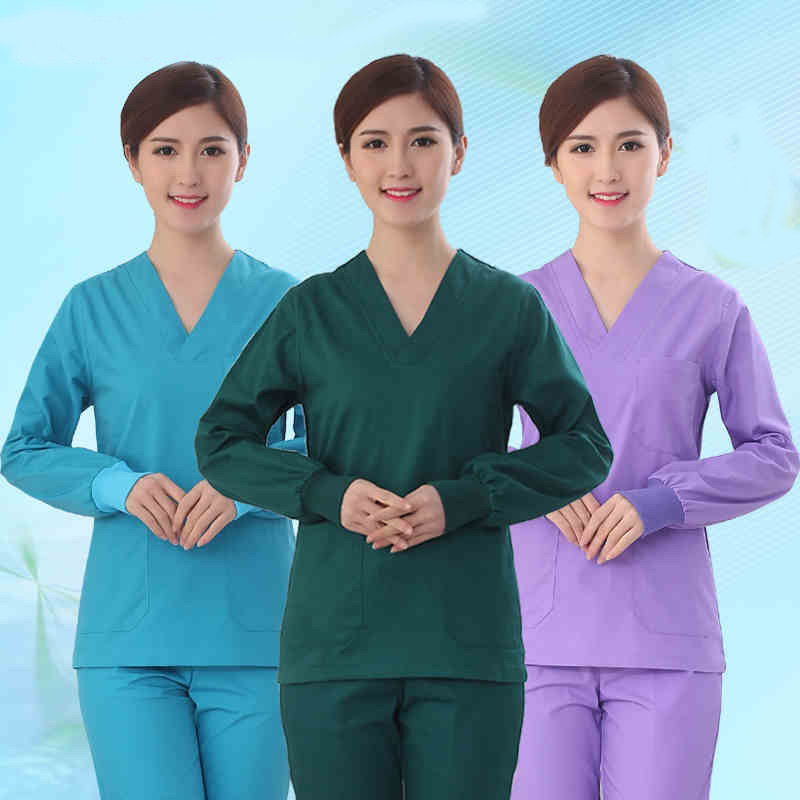 High - quality surgical clothing hand - washing clothes split suit doctors and nurses overalls brush hand clothing men and women