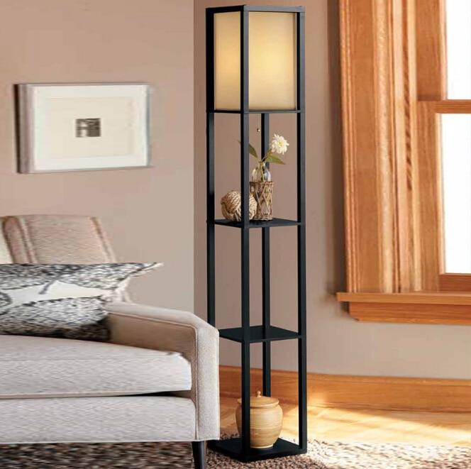Lamps For Living Rooms: Wooden Floor Lamp Modern Minimalist Living Room Light