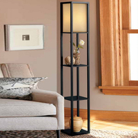 Wooden Floor Lamp Modern Minimalist Living Room Light Bedroom Bedside Lamp 160cm Height Standing Lamp For Living Room