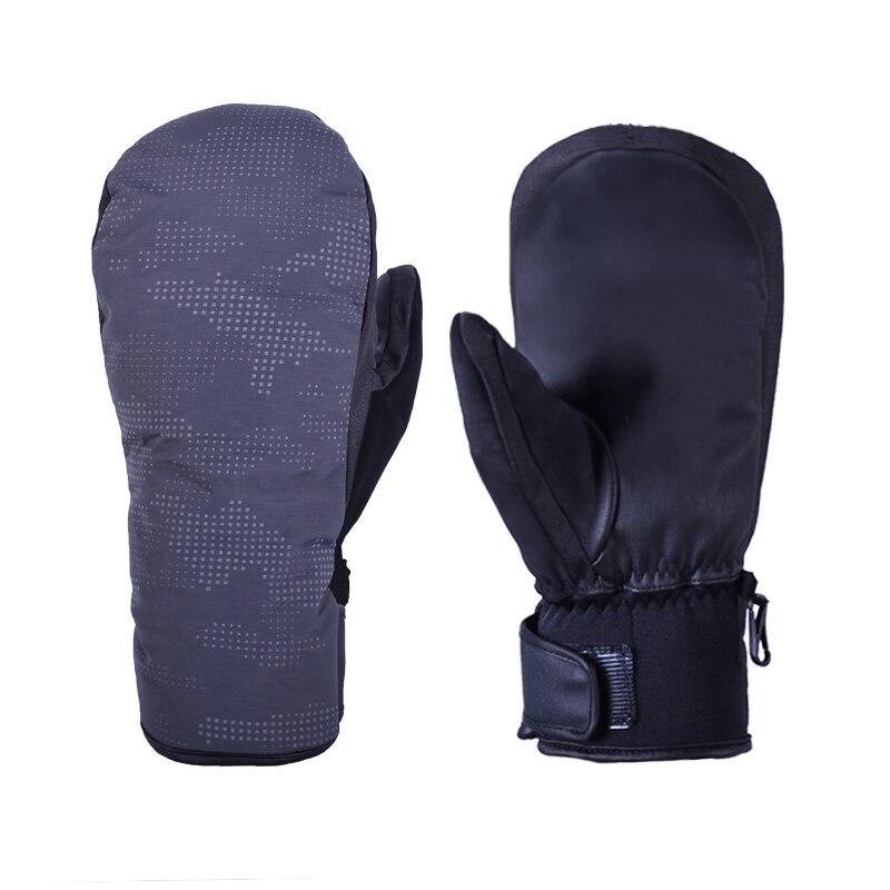 Ski Gloves  Winter Sports Waterproof Skiing Snowboard Mitten Windproof Leather Warm Snowboarding Snowmobile Gloves