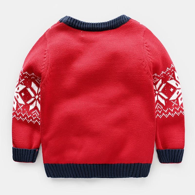 boys christmas sweater deer Red Girl Baby kids cartoon 2017 spring ...