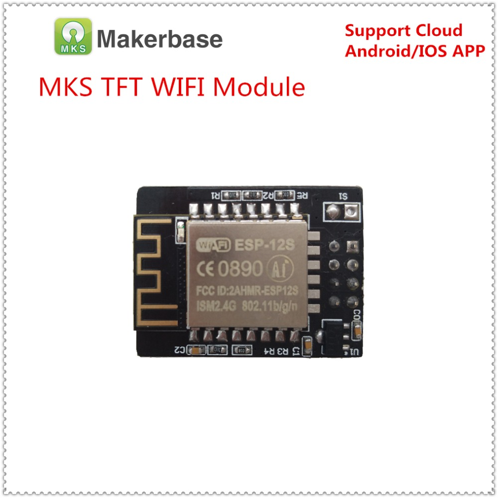 MKS TFT WIFI remote control module wireless smart controller wifi app monitor ESP8266 chip ESP-12S for MKS TFT touch screen 3d printing wireless router hlk rm04 wifi module mks hlkwifi v1 1 remote control for mks tft touch screen high stability