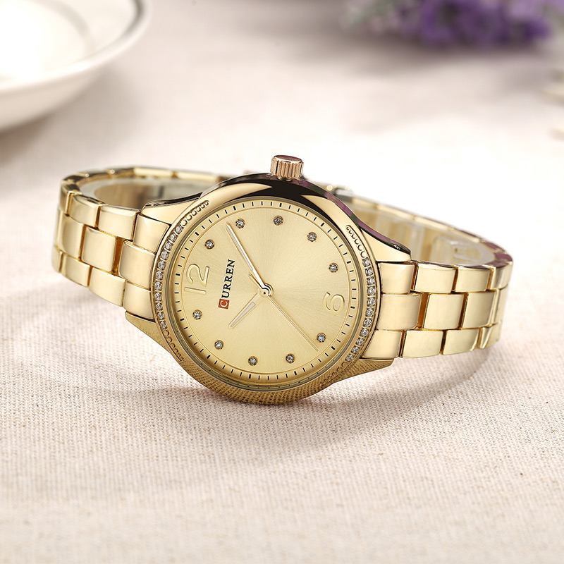 CURREN 2018 Women watches New luxury Casual Alloy Quartz Wristwatch Steel Band ladies Clock Crystals Gifts relogios feminino 1