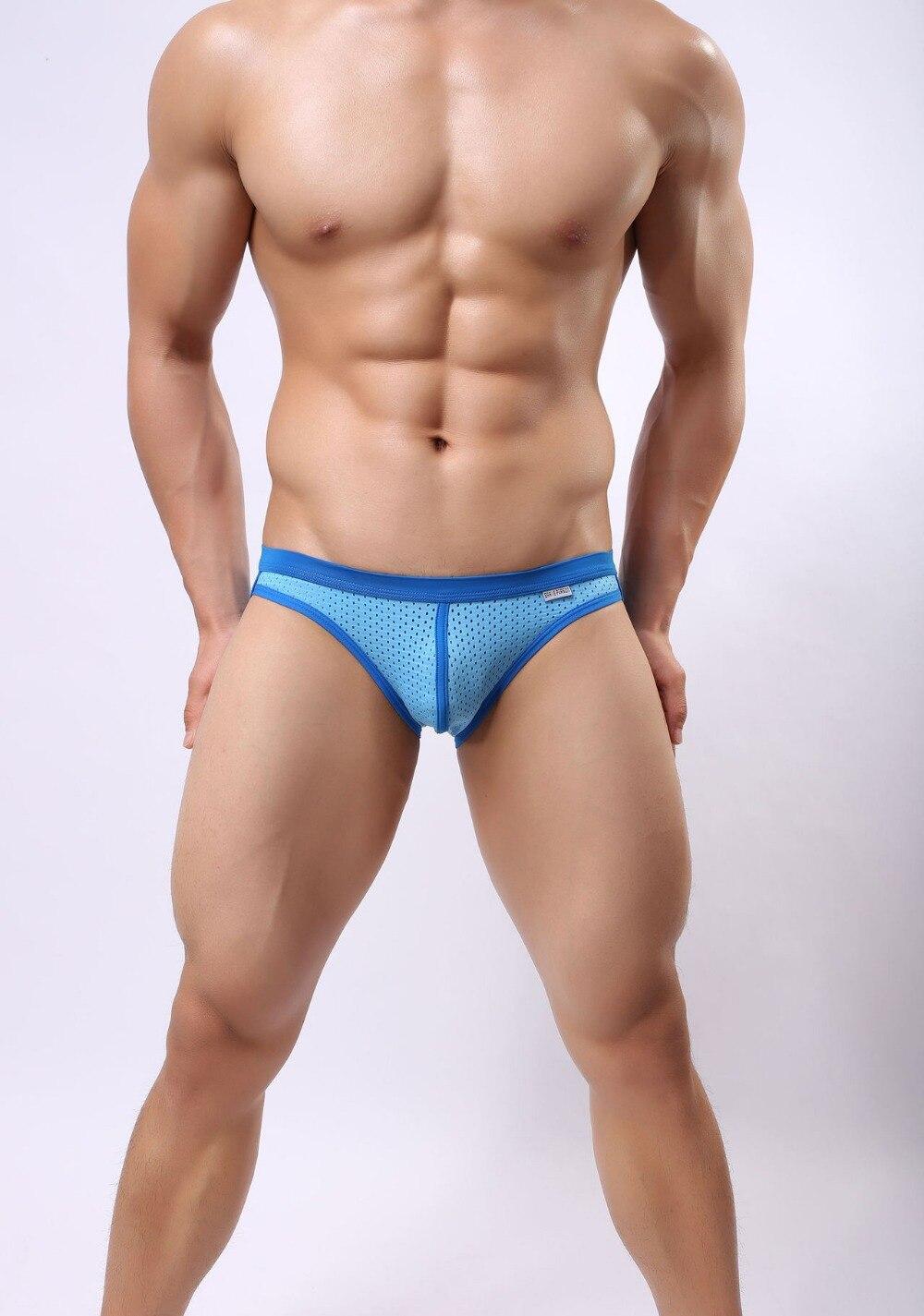 Underwear Men Briefs High Quality Brand Underwear Briefs Shorts Mens Bikinis Men Sexy Mesh Briefs 6 Color Sale