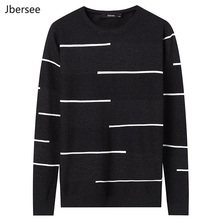 Jbersee Cashmere Knitted Pullover Men Casual O-neck Long Sleeve Warm Autumn Winter
