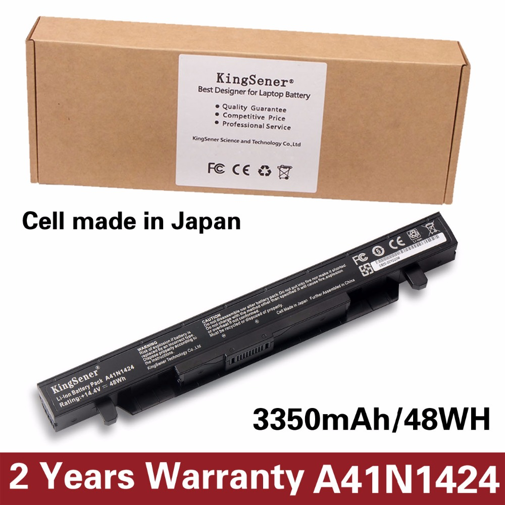 KingSener A41N1424 Batterie D'ordinateur Portable pour ASUS ROG ZX50 ZX50J ZX50JX ZX50V ZX50VW GL552 GL552J GL552JX GL552V 14.4 V 3350 mAh