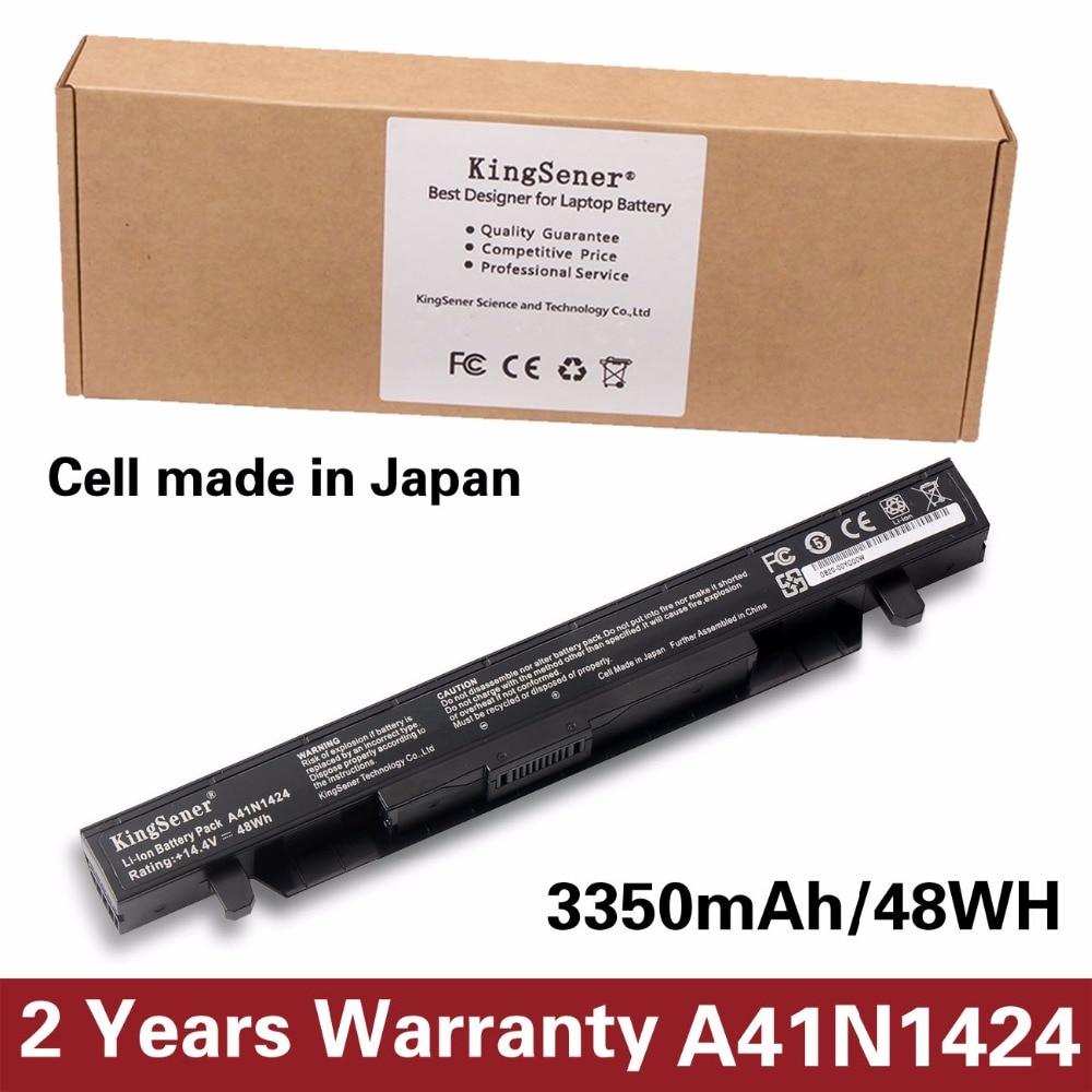 ASUS ROG ZX50 ZX50J ZX50JX ZX50V ZX50VW GL552 GL552J GL552JX GL552V 14.4V 3350mAh üçün KingSener A41N1424 noutbuk batareyası
