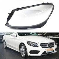 Для Mercedes-Benz W205 C180 C200 C260L C280 C300 Автомобильные фары прозрачные линзы автомобильный брелок крышка