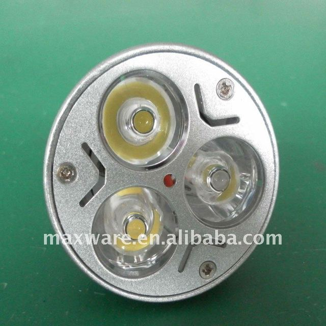 High power 250LM 3W spot light  AC85-265V input globe used and base on MR16/GU10 100% guarantee quality