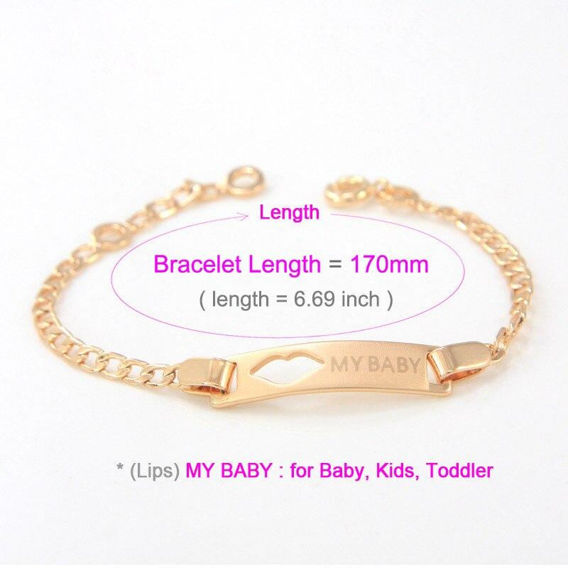 5b4d0865fa8b 17CM Baby Bracelets Gold Kids Jewelry Pulsera Bebe Pulseira Braclet Bangle  Bracciali Bambino Bracelete Ninas Teen Girl B0640-in Charm Bracelets from  Jewelry ...