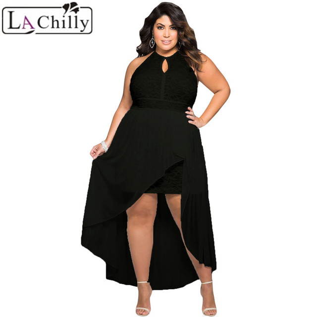 La Chilly Casual Clothing 2018 Lace Special Occasion Plus Size Dress