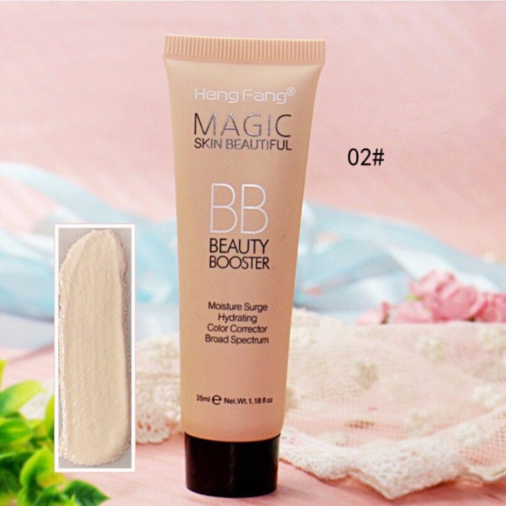 Новинка, профессиональный Осветляющий базовый BB крем, набор для макияжа, Солнцезащитный блок, стойкий водонепроницаемый отбеливающий крем для лица, брендовая корректирующая основа, TSLM2 - Цвет: 02
