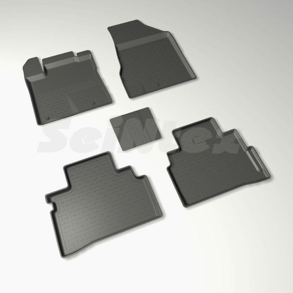 цена Rubber floor mats for Nissan Murano III Z52 (2016-2018) Seintex 87650 в интернет-магазинах