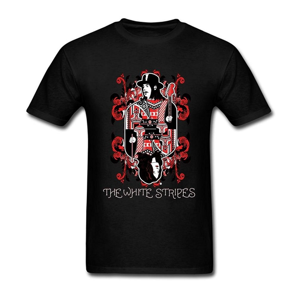 Tee Shirts Hipster Crew Neck Graphic The White Stripes Band Short Sleeve T Shirts For Men