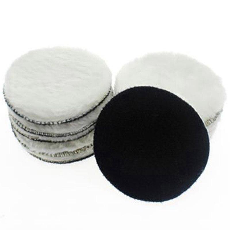 TOP 10 Pcs 125 Mm Car Polishing Pad 5 Inch Inch Polish Waxing Pads Wool Polisher Bonnet Car Paint Care Wool Polishing Pad
