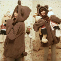 2015 new autumn women coat Student uniforms warm sweaters Sweatshirts cute Winnie  rabbit ears hooded zipper jacket