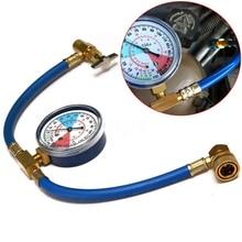 R134A AC Recharge Hose Refrigerant Pressure Gauge Charging for Car Air Conditioner Measuring Kit