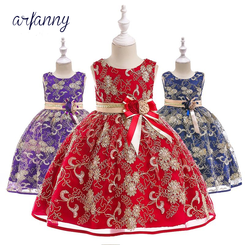 Children's Embroidery Retro Court Princess Princess Dress Girl Party Christmas Cosplay Costume girls Clothes Party dreesss teen titans starfire tamaran princess cosplay costume f006