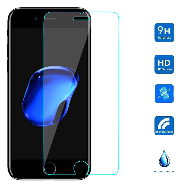 0.26mm 9H Explosion-proof Tempered Glass For iPhone 4 4S 5 SE 5S 6 6S Plus 6SPlus 7 8 Plus X T Screen Protector Film Case
