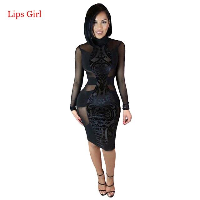 Женщины Черный Sexy Кружева Платье Повязки 2016 Новый Летний Стиль Высокое Качество Знаменитости Ночной Клуб Одежда Бинты Бальные Платья
