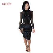 Women Black Sexy Lace Bandage font b Dress b font 2016 New Summer Style High Quality