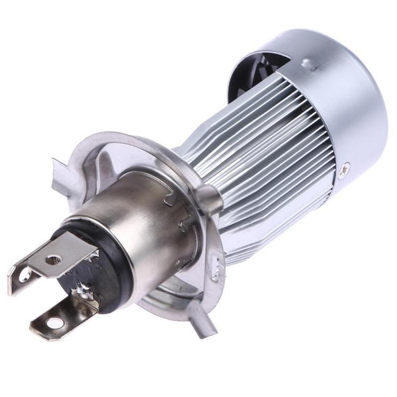 Motorrad LED Scheinwerfer Birne 6500K 3 COB 18W H4 2000LM Hi//Lo China Post