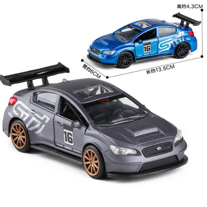 13.5CM 1:32 Scale Metal Alloy Plastic Subaru Auto Racing Car Model Car Model Pull back Model Diecast Vehicles Toys F Children image