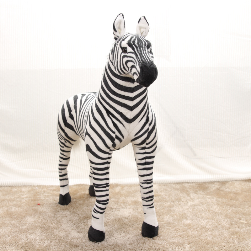 new arrival large 75x60cm simulation zebra plush toy standing zebra toy decoration,Christmas gift w1970new arrival large 75x60cm simulation zebra plush toy standing zebra toy decoration,Christmas gift w1970