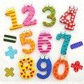 Comercialização Hot 15 pcs ima magnéticos de madeira de matemática brinquedo aprendizagem precoce Montessori brinquedos educativos de madeira matemática brinquedos W090