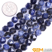 8mm 10mm 12mm AAA Grade Faceted Sodalite Beads Natural Stone Beads DIY Loose Beads For Cambay