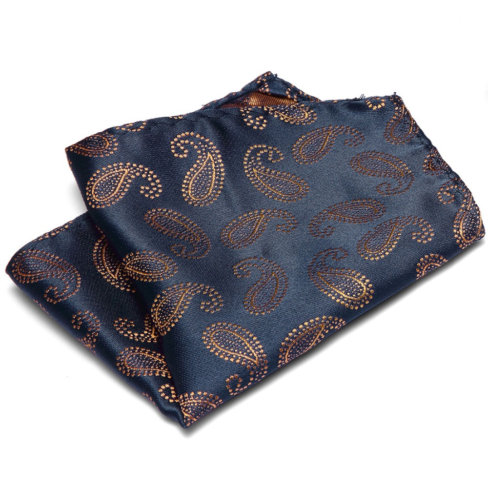 Casual Floral Dots Pockets Hanky Men Polyester Designer Handkerchiefs Woven Printing Pocket Square Hankies Party