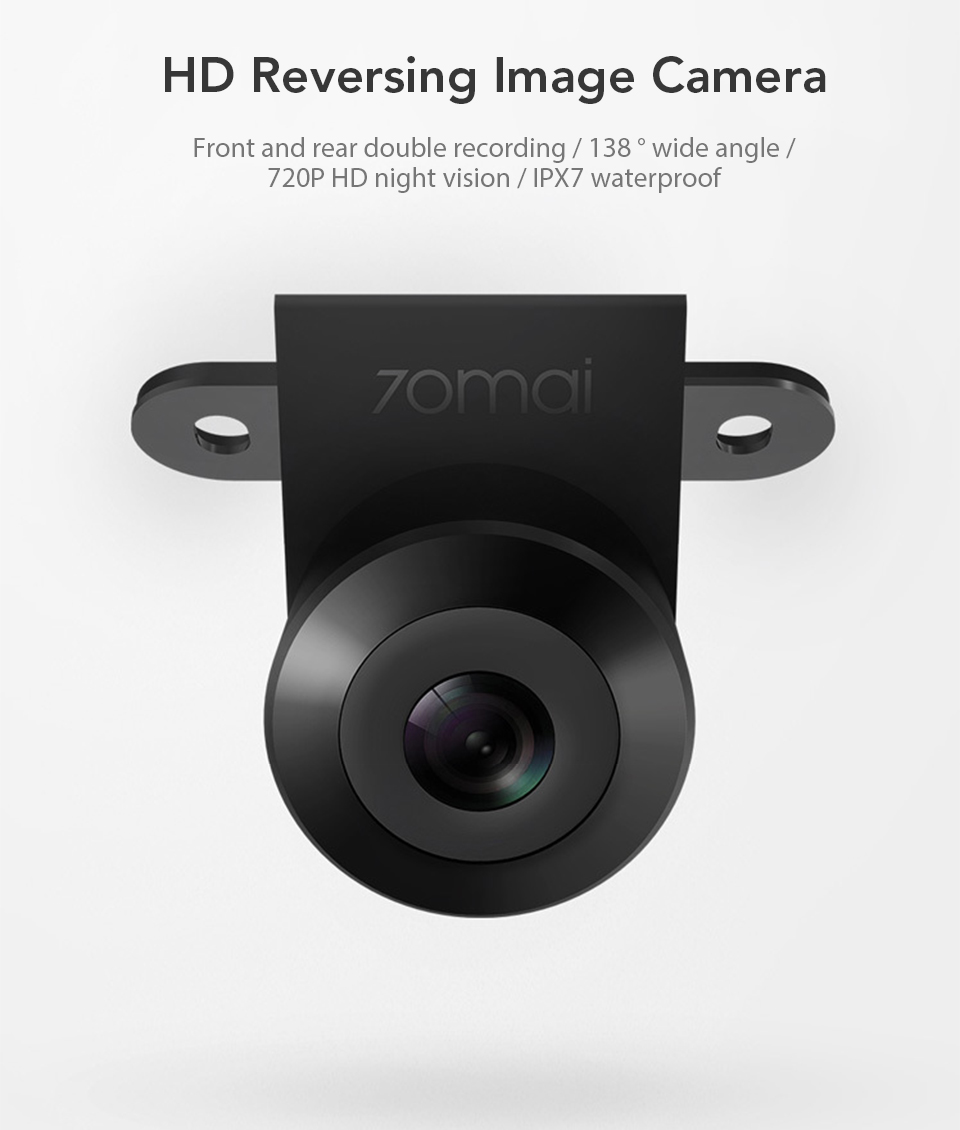 Xiaomi 70mai Reversing Rear Camera 720P HD Night Vision IPX7 Waterproof Double Recording 138 Degrees Wide Angle (1)